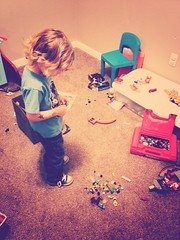 339 of 354 - It's Building Time! ([ the black star ]) Tags: boy playing building toys kid toddler things kingston stuff legos messy blocks creating shrug playroom 339365 theblackstar threehundredthirtynine thelittlemister uploaded:by=flickrmobile louisianafilter flickriosapp:filter=louisiana