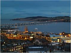 Dundee and the Tay Bridge (eric robb niven) Tags: city bridge winter night river scotland dundee tay lumixtz8 ericrobbniven