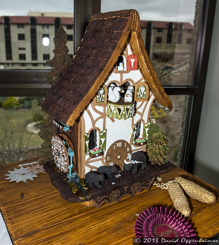 National Gingerbread House Competition at The Omni Grove Park Inn - Cuckoo clock