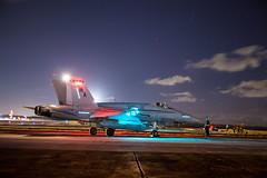 Night Ops (kenny siegler) Tags: b sky moon usmc night dark lights fly bravo d c flight delta boom charlie alpha f18 bomb bang legacy pilot pilots a