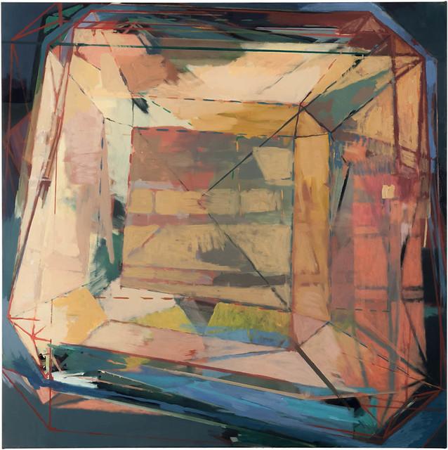 Anziehungspunkt,120 x 120 cm, Eitempera,Acryl/Pigmente, 2013