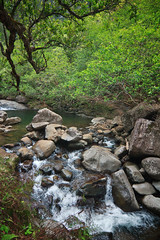 White Water, Hanakapiai Stream (Emily Miller fine art) Tags: hawaii coast stream hike na trail kauai pali kalalau napali hanakapiai
