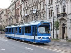 Krakow GT8S 3039 Dworzec Glowny (Guy Arab UF) Tags: three tram poland krakow streetcar trams tramway section articulated strassenbahn tramwaj glowny dworzec dussledorf rheinbahn 3039 gt8s duwag