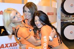 Maxxis Babes Laura McBride Sarah Widdowson & Nickie Ann Sharing The Love! (Tanvir's Pics 2010) Tags: laura sarah birmingham international babes ann nickie nec mcbride autosport 2014 maxxis widdowson