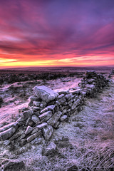 Houndkirk Sunrise (Twiggy's Photography) Tags: cold clouds sunrise track day cloudy sheffield houndkirk foxhouse pwwinter