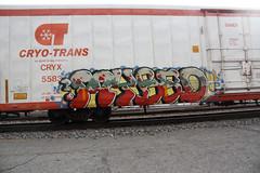 MyBad (No Real Name Given.) Tags: railroad art train graffiti bad tracks rails boxcar trans freight reefer pyle mybad cryo benching