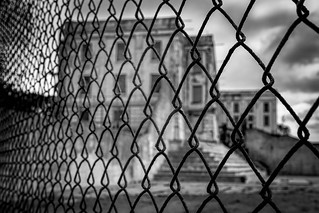 Alcatraz - Cell House through Fence