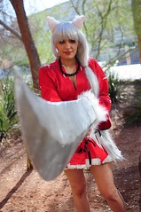 InuYasha (Anime Indian) Tags: arizona woman anime sexy phoenix beautiful lady comic cosplay manga fantasy convention sword cosplayer takahashi inuyasha rumiko aacc silverhair amazingarizonacomiccon