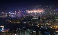 Chinese New Year 2014 Fireworks (Keith Mulcahy) Tags: city festival hongkong fireworks chinesenewyear cny nightmarket kowloon hongkongisland cityskyline victoriaharbour kowloonpeak feingoshan keithmulcahy february2014 blackcygnusphotography ppa7a0 ppd56c