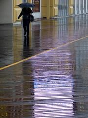 Boardwalk in the rain (Eric.Ray) Tags: panasonic lumix dmc photos outdoors street photography gamble beach atlantic city umbrella rain weather boardwalk wet walking reflection