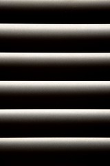 Venetian Blind Effect, 1 (A-Lister Photography) Tags: uk light england cinema black reflection london film lines vertical metal horizontal dark private landscape grey mono intense bars closed pattern close darkness angle blind background indoors reflect shutters slats secure striking cinematic atmospheric privacy shut filmnoir filmic venetianblind adamlister nikond5100 alisterphotography