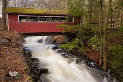 Southford Falls State Park Covered Bridge (dhfore) Tags: landscape spring connecticut ct oxford coveredbridge 2014 southfordfallsstatepark