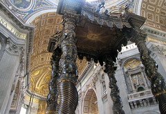 Bernini, Baldacchino, splayed view