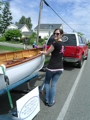 GEDC8183 - Port Townsend WA - 2014 Rhododendron Parade - Northwest School of Wooden Boatbuilding - Courtney helps set up the trailer signs (Northwest School of Wooden Boatbuilding) Tags: wood boat wooden washington marine craft olympicpeninsula parade porttownsend pacificnorthwest wa pugetsound woodenboat pnw woodworking irondale craftsmanship boatbuilding woodshop oakbay woodenboats porthadlock hadlock boatshop jeffersoncounty vocational boatschool porttownsendbay rhododendronparade chimacum vocationaltraining quimperpeninsula woodenboatschool nwsb northwestschoolofwoodenboatbuilding eastjeffersoncounty nwboatschool nwswb nwswbb 2014porttownsendrhododendronparade rhodieparade