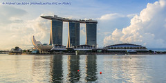 Singapore Dramatic Clouds (P5180792-1_3-2_4-3_5-4_6-5_tonemapped) (Michael.Lee.Pics.NYC) Tags: blue sky sun reflection art museum clouds marina bay singapore science sands hdr