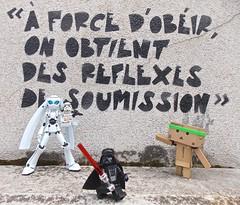 Call to Rebellion!  (Damien Saint-) Tags: dark toy japanese amazon von vinyl stormtrooper pepsi fireball yotsuba flgel vador danbo drossel calbee amazoncojp revoltech danboard figma