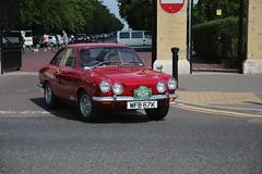 850 Coupe (kenjonbro) Tags: uk red england london classic start blackheath fiat help guessed 1972 a2 sportscar 161 kitcar greenwichpark se3 worldcars kenjonbro 850coupe mfb67k londontobrighton14thkitsportsrun
