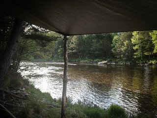 Camped up beside the River Dee