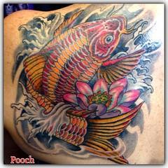 #koi #koitattoo #japanesetattoo #fingerwaves @neotatmachines @fusionink_ca #eldubink #alteredstatetattoo #lotus #pooch_art