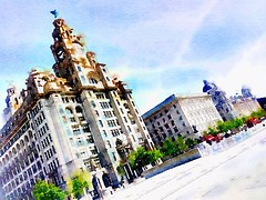 #liverpool #3graces #threegraces #liver #birds #merseyside #england #uk #watercolour #waterlogue (gavin77sw) Tags: uk england birds liverpool threegraces watercolour liver merseyside 3graces waterlogue