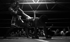 Muay Thai - Kedah (Chot Touch) Tags: muaythai martialart pendang kedah ricohgxr availablelight blackwhite action fighter