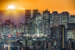 Diamond Fuji Cityscape (Suzuki san) Tags: tokyo longexposure cityscape sunset twilight buildings japan