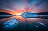 Fire & Ice (hpd-fotografy) Tags: arctic greenland scandinavia sunrise bluehour clouds cold cruise dramatic goldenhour ice iceberg landscape light north sailing sea seascape sunset water weather wideangle visipix