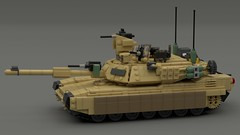 M1A2 Abrams (TheRookieBuilder) Tags: m1a2 abrams tank armoured tracked lego legodigitaldesigner ldd mecabricks render blender