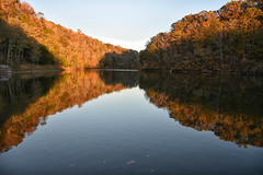 Appalachian lake in autumn