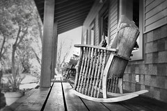 """The Kin Folk Said, Jed Move Away From Here"" (DeVaughnSquire) Tags: vintage rockingchair woodenwoodenchair oldrockingchair veranda country antique prairies relaxation summer"