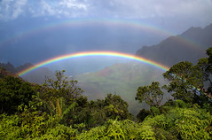 Kauai rainbow (Angela Freeman) Tags: kalalau kalalaulookout kauai napali scenery landscape hawaii rainbow pentaxk5 sigma18300mm