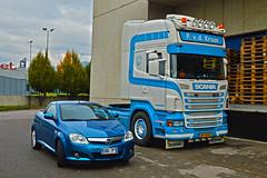 My Tigra &  Scania R620 V8 P.v.d. Kraan (Samuele Trevisanello) Tags: scania r620 v8 pvd kraan scaniapower scaniav8 v8power r 620 goinstyle hollandstyle truckholland scaniaholland hollans holland styler style truck trucks europe italia truckspotter fotobyst truckspotting como comodocks docks white blue veicolo allaperto camion opel opeltigra tigra tt twintop twin top tigratwintop blu cabrio roadster opelcar opelcars