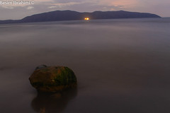 Long Exposure Photography (BesimIbrahimii) Tags: adriatic albania sea exposure long night sunset water rock shadow sky 2016 autumn fall