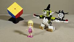 Stephanie (Busted.Knuckles) Tags: home lego toys minifigures stephanie rubikscube olympusomdm10mkii