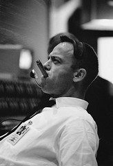 """#""""Astronaut Alan B. Shepard Jr., chief, astronaut office, NASA's Manned Spacecraft Center in Houston, chomps vigorously on a cigar during relaxing moments following the Gemini-6 liftoff."""", 1965 [700 × 1024] #history #retro #vintage #dh #HistoryPorn http:/ (Histolines) Tags: histolines history timeline retro vinatage astronautalanbshepardjrchiefastronautofficenasasmannedspacecraftcenterinhoustonchompsvigorouslyonacigarduringrelaxingmomentsfollowingthegemini6liftoff 1965 700 × 1024 vintage dh historyporn httpifttt2gcysej"""