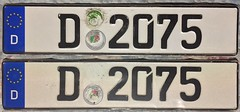 GERMANY DUSSELDORF 2012 ---POLICE LICENSE PLATE PAIR (woody1778a) Tags: germany deutschland europe europa licenseplate numberplate registrationplate mycollection myhobby