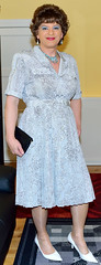 Birgit023252 (Birgit Bach) Tags: dress kleid buttonthrough durchgeknöpft pleatedskirt faltenrock