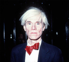 Andy Warhol (nicolechick) Tags: andy warhol closeup head shot new york ny red bowtie stock photo studio 54 nyc unitedstates