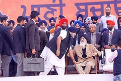 culture and tradition of Punjab is summed up in this picture - Akali Dal (Shiromani Akali Dal) Tags: akalidal mogarally punjab