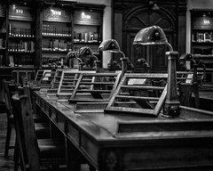 Waiting for the scholars (adrian.sadlier) Tags: nationallibraryofireland ireland dublin kildarestreet library readingroom books scholars research mono