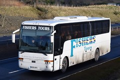 MX05AFV  Fishers Tours, Dundee (highlandreiver) Tags: blackford mx05afv mx05 afv fishers tours dundee van hool bus coach a9 perthshire