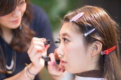 Young Japanese girl making up in beauty salon (Apricot Cafe) Tags: img4751 20s asianethnicity canonef85mmf18usm japan japaneseethnicity kimono tokyo beauty beautysalon ceremony culture enjoy hairsalon happiness oneperson peaceful woman youngadult minatoku tkyto jp