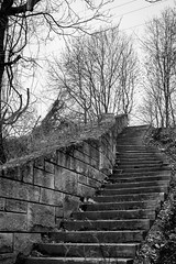 Ascending [explored] (kwtracyghostship) Tags: pennsylvania commonwealthpa alleghenycounty herrsisland kwtracyghostship pittsburgh unitedstates us moody steps stairs stone cold brooding invocative mysterious bw