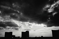 R1-032-14A (David Swift Photography Thanks for 19 million view) Tags: davidswiftphotography atlanticcity newjersey clouds casinos tallbuildings silhouette sunset dusk 35mm film ilfordxp2 leicaminilux cities skylines