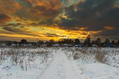 sunset (Igor_Ovchinnikov) Tags: sunset winter village roadto