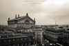 Rooftops of Paris including the Opera House and Eiffel Tower on a Stormy Day (Bridget Calip - Alluring Images) Tags: 2016 alluringimagescolorado blackandwhite boulevardhausmann bridgetcalip charlesgumeryslharmonie eiffeltower france harmony lapoésie louvre notredamebibliothèquemuséedelopéradeparis palaisgarnier parisopera parisoperalibrarymuseum poetry rooftops salledescapucines allrightsreserved copyrighted gildedfigures giltcopperelectrotype nightscapes stormyday usa