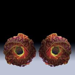 Tiger Eyes (Pixel Fusion) Tags: tiger eye flowering maple flora nature macro nikon d600