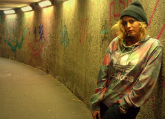 Claire in the underpass (Tony Worrall) Tags: preston north northwest lancs lancashire england northern uk update place location visit area county attraction open stream tour country welovethenorth unitedkingdom claire night evening late shoot street urban sexy woman female candid lone outside done pose test studio underpass subway lit lights sundue adele