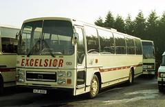 B0953D ex Excelsior DT VJT619X Yeates Q 10 Nov 83 (Dave58282) Tags: bus dt excelsior vjt619x ford r1114