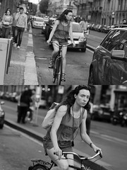 [La Mia Citt][Pedala] (Urca) Tags: milano italia 2016 bicicletta pedalare ciclista ritrattostradale portrait dittico nikondigitale mir bike bicycle biancoenero blackandwhite bn bw 907121